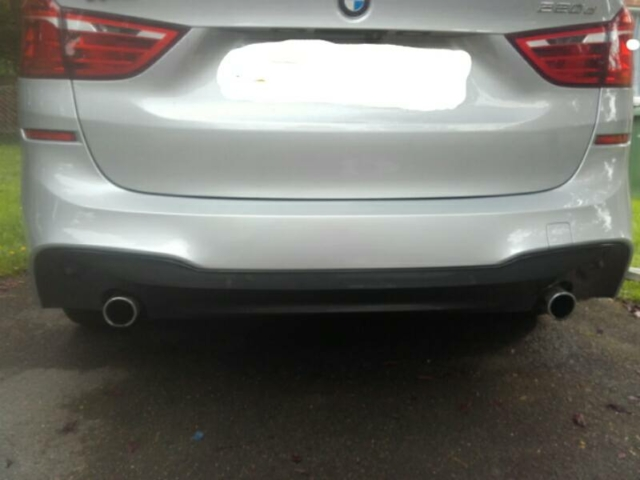 BMW 220d before towbar was fitted