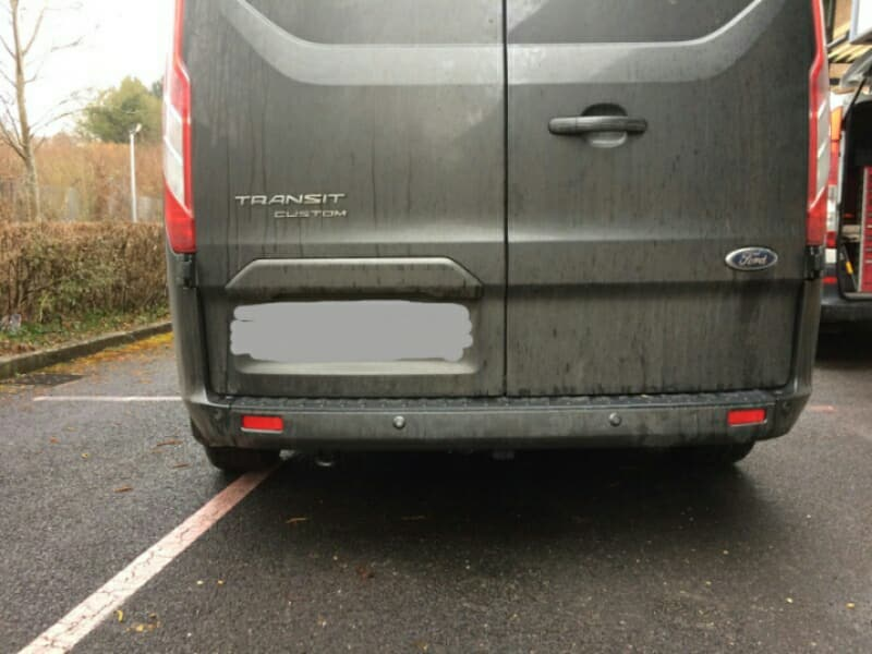 Transit before Tow-Trust Towbar fitting